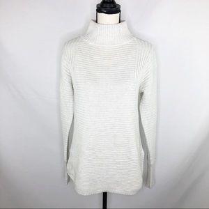 Anthropologie Akini Ribbed Mock Turtleneck Sweater